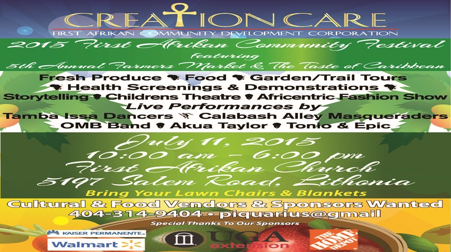 July 11th Come Out To the Creation Care 2015 Community Festival