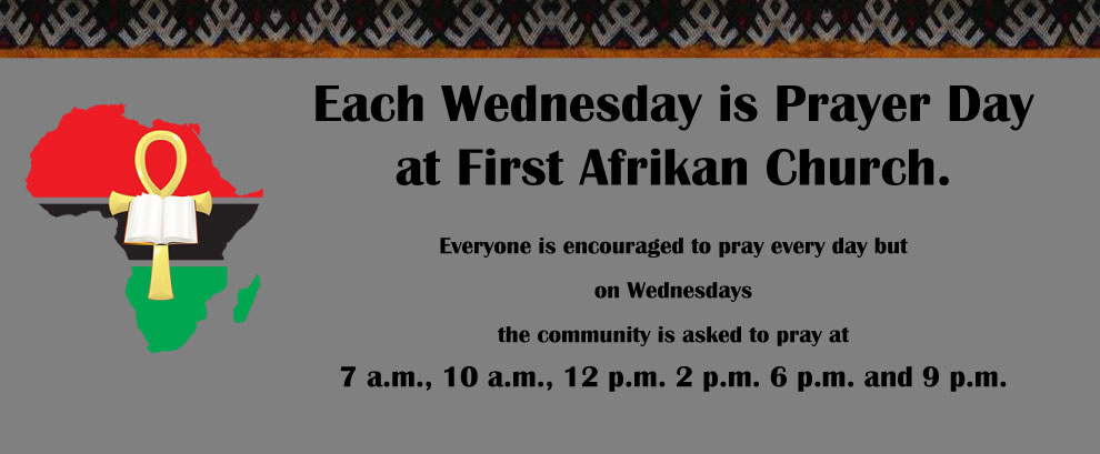 Community Prayer on Wednesday