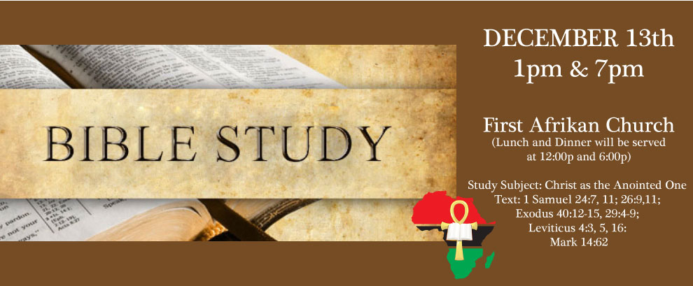 Study Subject: Christ as the Anointed One