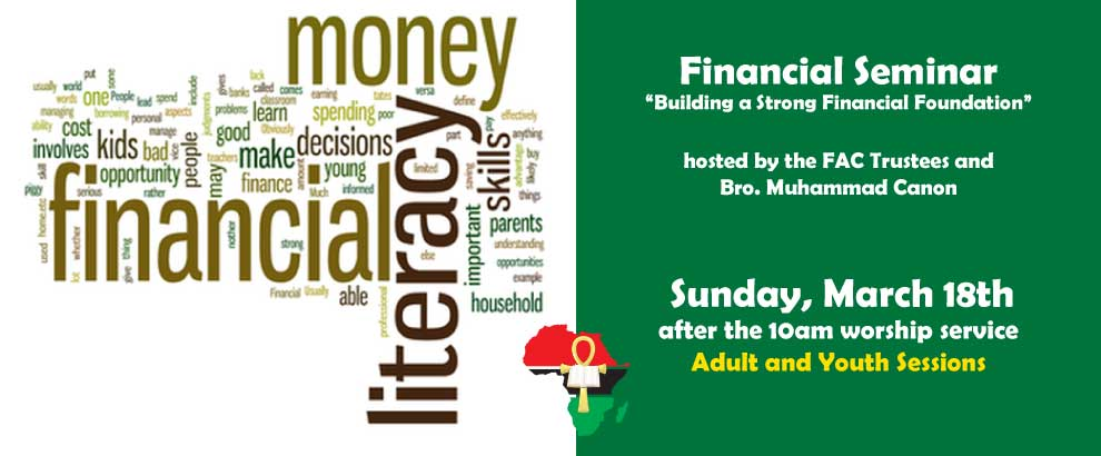 Financial Seminar, March 18th