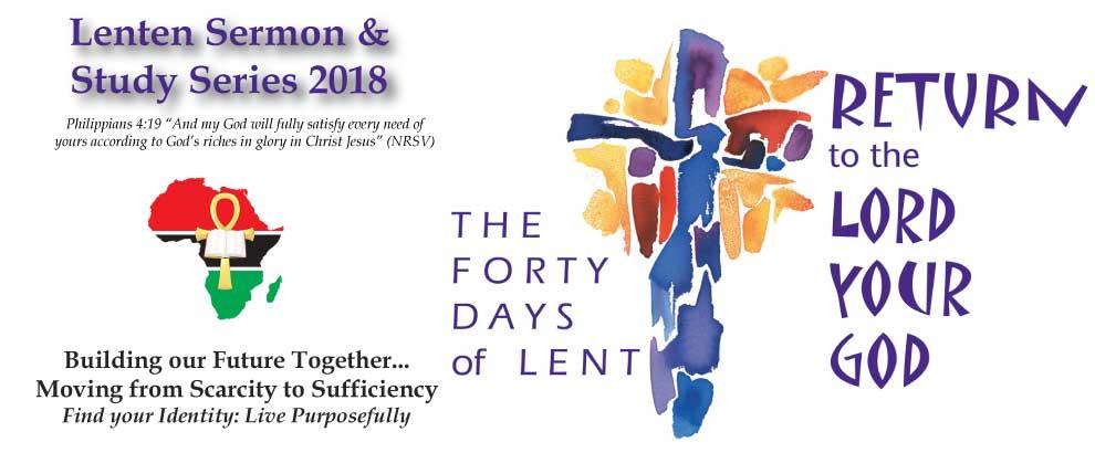 Lenten Sermon & Bible Study Series