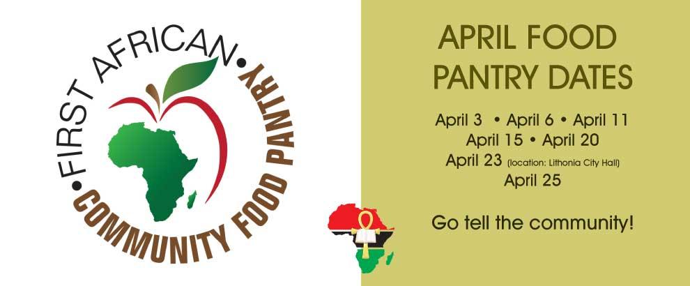 April Food Pantry Dates