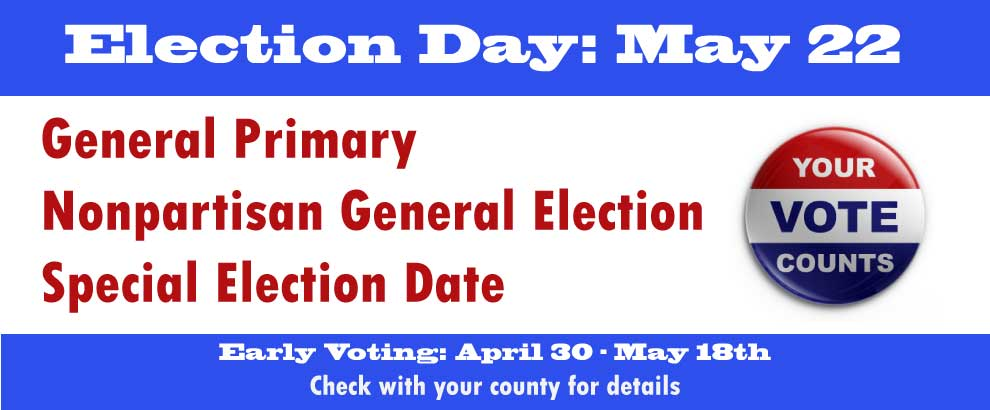 Election Day - May 22nd