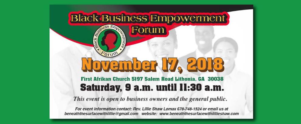 Black Empowerment Forum - 8:00am