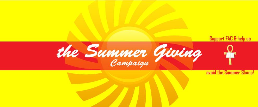 Help Avoid the Summer Giving Slump