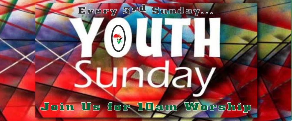 Youth Sunday Worship at 10AM