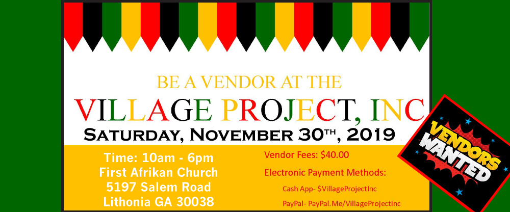 Vendors Needed!