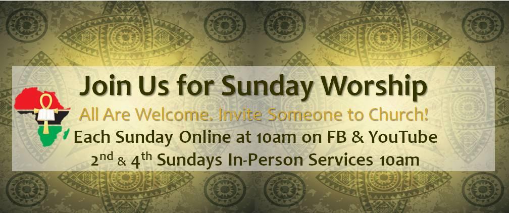 In-Church 2nd & 4th Sundays